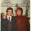 Bill Ramage (right) with his longtime friend, actor/producer and author Mark Damon